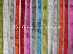 Tissu Deschemaker - Velours Yucatan - réf: 103758 - Multicolore - Voir en grand