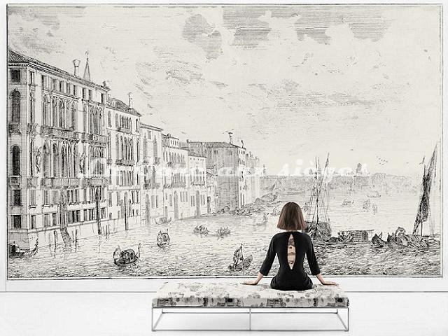 Papier peint Rubelli - Grancanal - Voir en grand