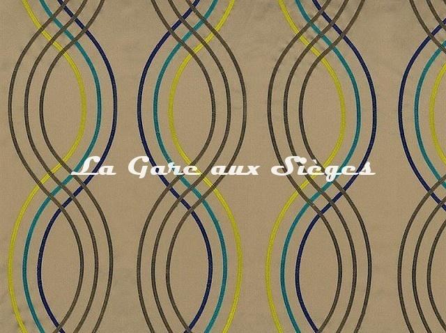 Tissu Casamance - Santara - réf: 3591.0415 Vert - Voir en grand