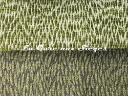 Tissu Pierre Frey - Colette - réf: F3115 - Coloris: 013 Poix cassé & 014 Vert de gris - Voir en grand
