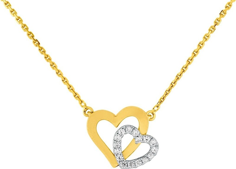 collier coeur bicolore ref BSCI51Z40 40cm 56¤ - Voir en grand