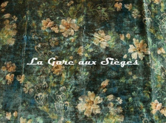 Tissu GP & J.Baker - Queen's Garden Velvet - réf: BP10644.1 Jade - Voir en grand