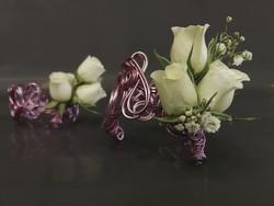 bracelet témoin bijoux éphémère pour mariage - Voir en grand