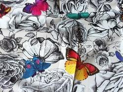 Tissu Osborne & Little - Butterfly Garden - réf: F6565-01 Multicolore - Voir en grand