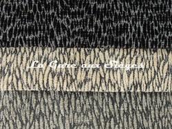 Tissu Pierre Frey - Colette - réf: F3115 - Coloris: 007 Réglisse - 006 Granit - 005 Ardoise - Voir en grand
