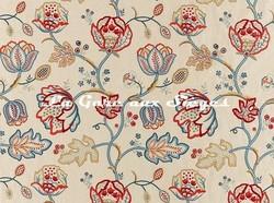 Tissu William Morris - Theodosia Embroidery - réf: 236822 Wine/Indigo - Voir en grand