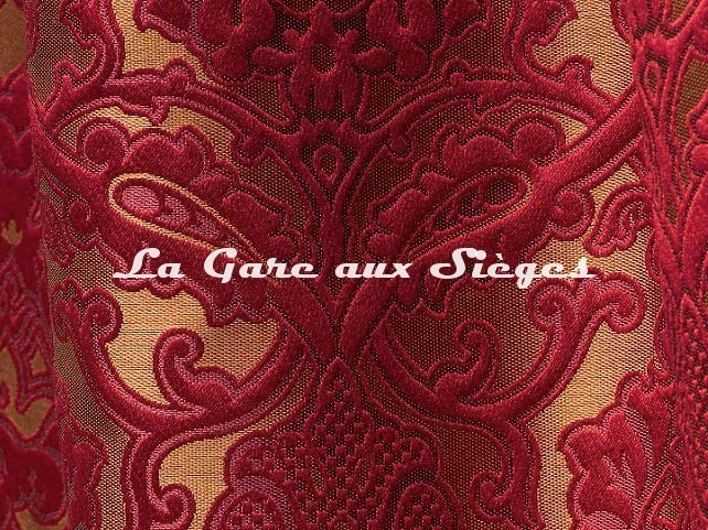 Tissu Tassinari & Châtel - Léonardo - réf: 1691.05 Rubis - Voir en grand