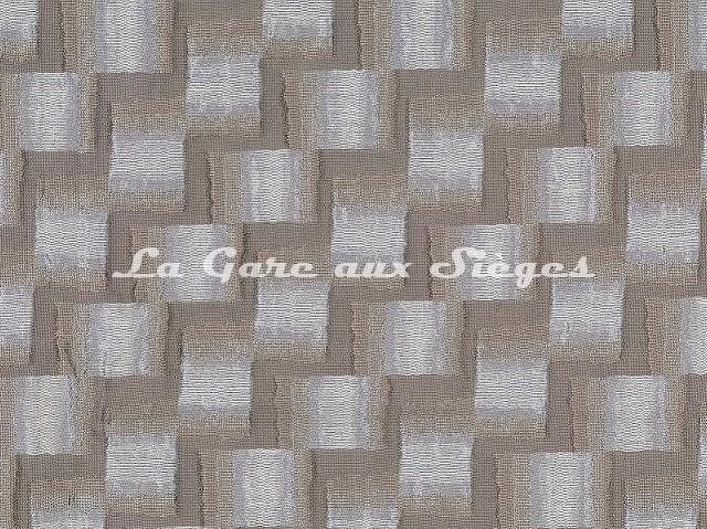 Tissu Osborne & Little - Caroussel - réf: F7054-01 Ivory/Taupe - Voir en grand