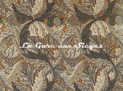 Tissu William Morris - Acanthus - réf: 226400 Mustard/Grey - Voir en grand