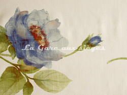 Tissu Bélinac - Pastel - réf: 1023/3936-03 Ivoire/Bleu - Voir en grand