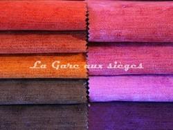 Tissu Deschemaker - Velours Colombo - Coloris: 3058-3057-3059-3093-3074 & 3062-3063-3065-3066 - Voir en grand