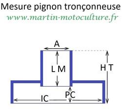 Prise des mesures de pignon standard ECHO PPK www.martin-motoculture.fr - Voir en grand