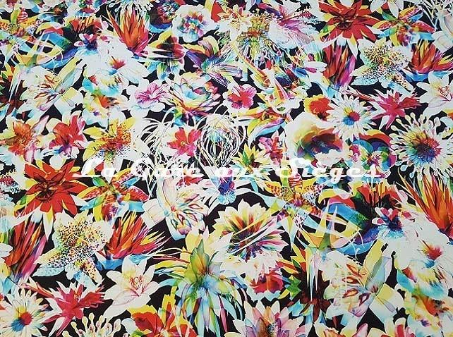 Tissu Jean Paul Gaultier - Hawaï - réf: 3496.01 ( lé ) - Voir en grand