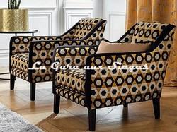 Tissu Camengo - Exentricite - Coloris: Cognac - Voir en grand