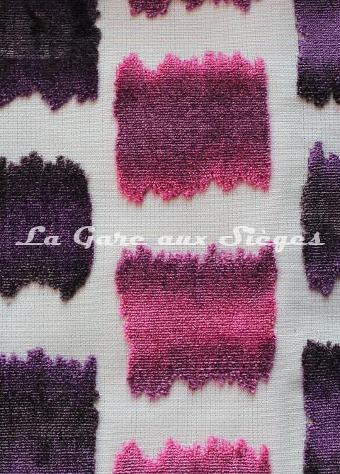 Tissu Jéro - Aquarelle - réf: 9631-08 Violet - Voir en grand