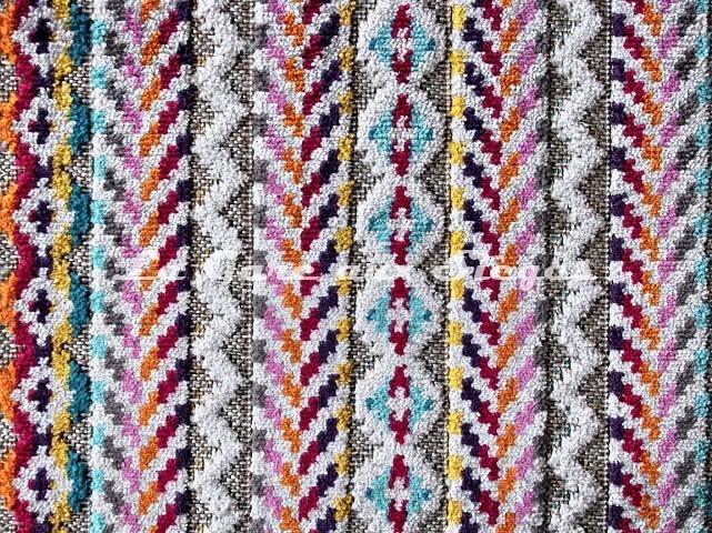 Tissu Deschemaker - Nashville - réf: 104006 Multicolore - Voir en grand