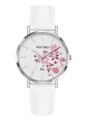 Bracelet blanc cadran blanc 699011 - Voir en grand