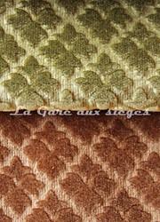 Tissu Chanée Ducrocq - Velours gaufré Rivoli - Coloris: 937 Laurier - 940 Camel - Voir en grand