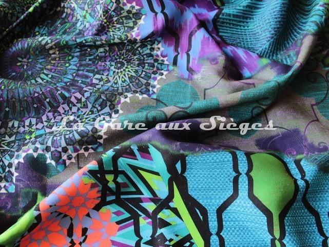 Tissu Casal - Woodstock - réf: 35001 - Coloris: 14 Multi bleu - Voir en grand