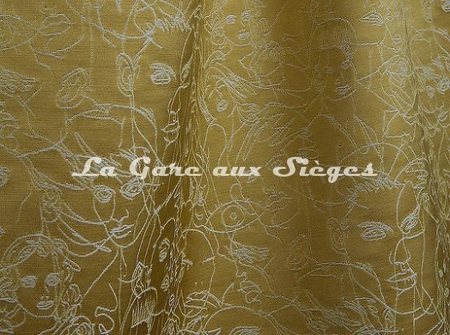 Tissu Jean Paul Gaultier - Regard - réf: 3471-04 Or - Voir en grand
