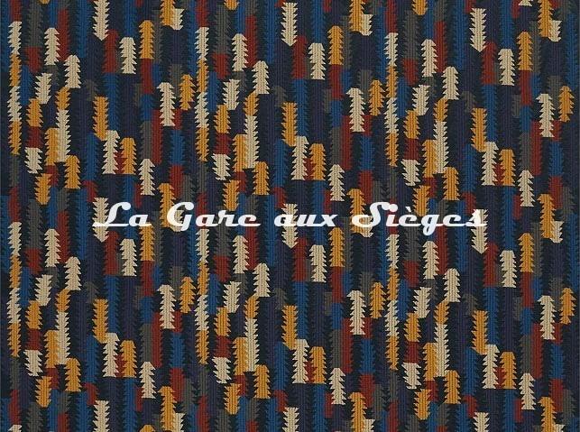 Tissu Zoffany - Cosmati Embroidery - réf: 333085 Ink/Tigers Eye - Voir en grand