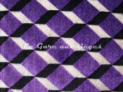Tissu Casamance - Velours Delacroix - réf: 771.0241 Violet/Noir - Voir en grand