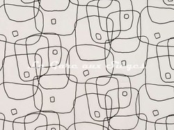 Tissu Pierre Frey - Le Fil d'Ariane - réf: F2988-001 Noir & blanc - Voir en grand
