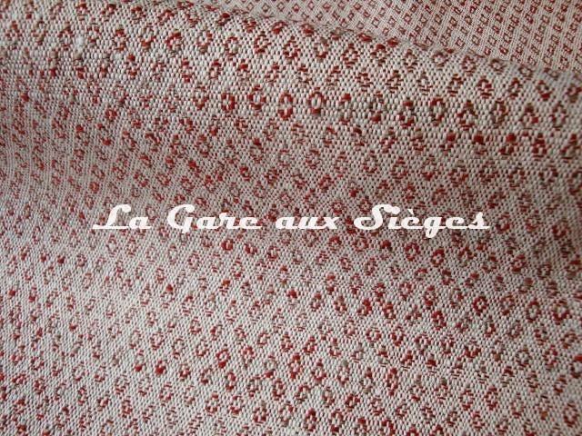 Tissu Dominique Kieffer - Subtil réf: 17200 - Coloris: 04 Tomate - Voir en grand