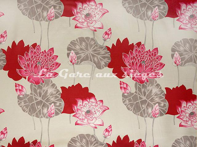 Tissu Bélinac - Lotus - réf: 1023-04 Gris - Voir en grand