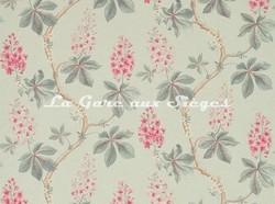 Tissu Sanderson - Chestnut Tree - réf: 225515 Seaspray/Peony - Voir en grand