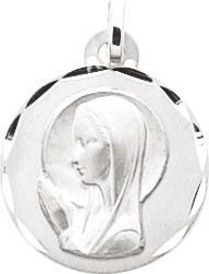 Médaille vierge argent rodhié 41 ¤ - Voir en grand