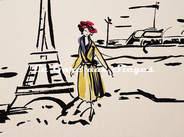 Tissu Manuel Canovas - La Parisienne ( détail 1 ) - Voir en grand