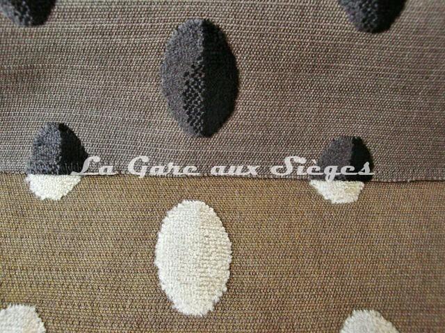 Tissu Casal - Beaubourg - réf: 12656 - Coloris: 0 Ebène & 72 Beige - Voir en grand