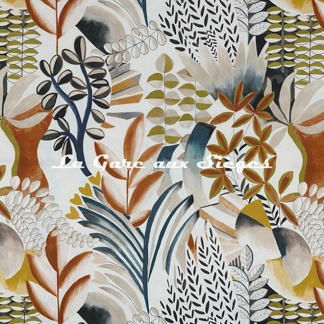 Tissu Casamance - Giardini - réf: 4615.0252 Terracotta - Voir en grand