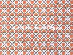 Tissu Jim Thompson - Poppy Field - réf: J2261/002 Mango - Voir en grand