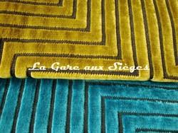 Tissu Harlequin - Concept - réf: 130667 Linden & 130671 Turquoise - Voir en grand