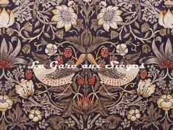 Tissu William Morris - Strawberry Thief - réf: 220315 Grape/Gold ( détail ) - Voir en grand