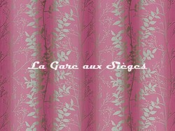 Tissu Harlequin - Persephone - réf: 130255 Magenta/Peat - Voir en grand