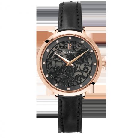 Montre femme collection Eolia bracelet cuir - Bijouterie Horlogerie ... 2736981cc9d