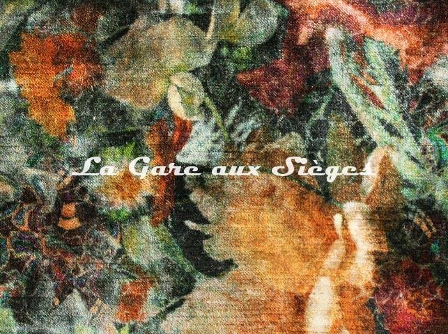 Tissu GP & J.Baker - Royal Garden Velvet - réf: BP10642.4 Amber/Jade ( détail ) - Voir en grand