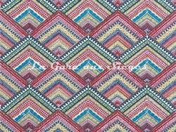Tissu Pierre Frey - Santa Rosa - réf: F3078-001 Multicolore - Voir en grand