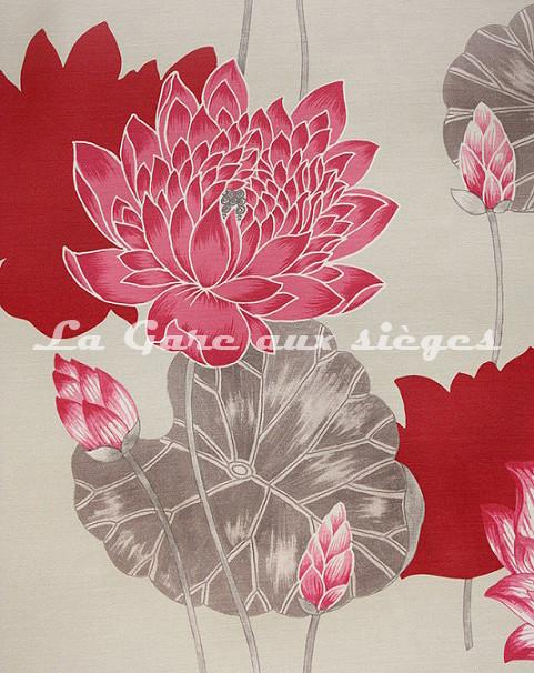 Tissu Bélinac - Lotus - réf: 1023 - Coloris: 04 Gris - Voir en grand