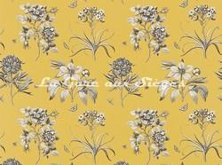 Tissu Sanderson - Etching & Roses - réf: DPFPET204 Empire Yellow - Voir en grand
