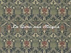 Tissu William Morris - Granada - réf: DMCOGR201 Indigo/Red - Voir en grand