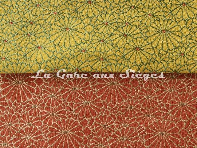 Tissu Jean Paul Gaultier - Obi - réf: 3467 - Coloris: 03 Doré & 04 Brique - Voir en grand