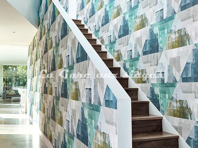 Papier peint Harlequin Geodesic - Voir en grand