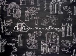 Tissu Pierre Frey - Nuit d'Architecte - réf: F5553-001 Noir - Voir en grand