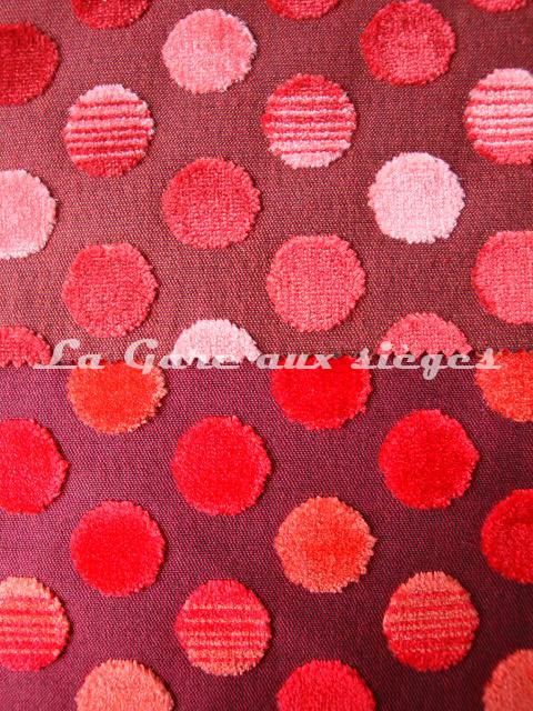 Tissu Jéro - Diabolo - réf: 9293 - Coloris: 1889 (supprimé) & 1888 Coquelicot - Voir en grand