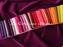 Tissu Carlucci - Velours City Velvet - réf: CA7832 - Palette de couleurs n°3 - Voir en grand