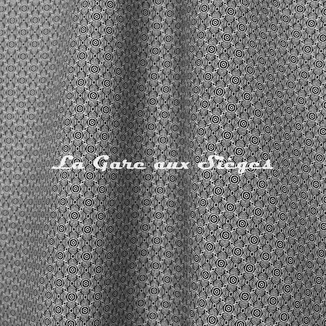 Tissu Jean Paul Gaultier - Optic - réf: 3494.01 Graphite - Voir en grand